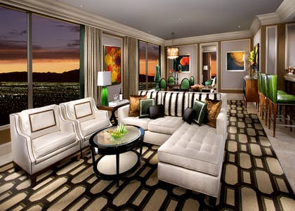 Living Area | Penthouse Suite | Bellagio