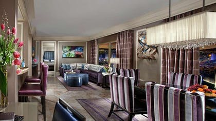 Living area | Two Bedroom Penthouse Premier Fountain View Suite | Bellagio