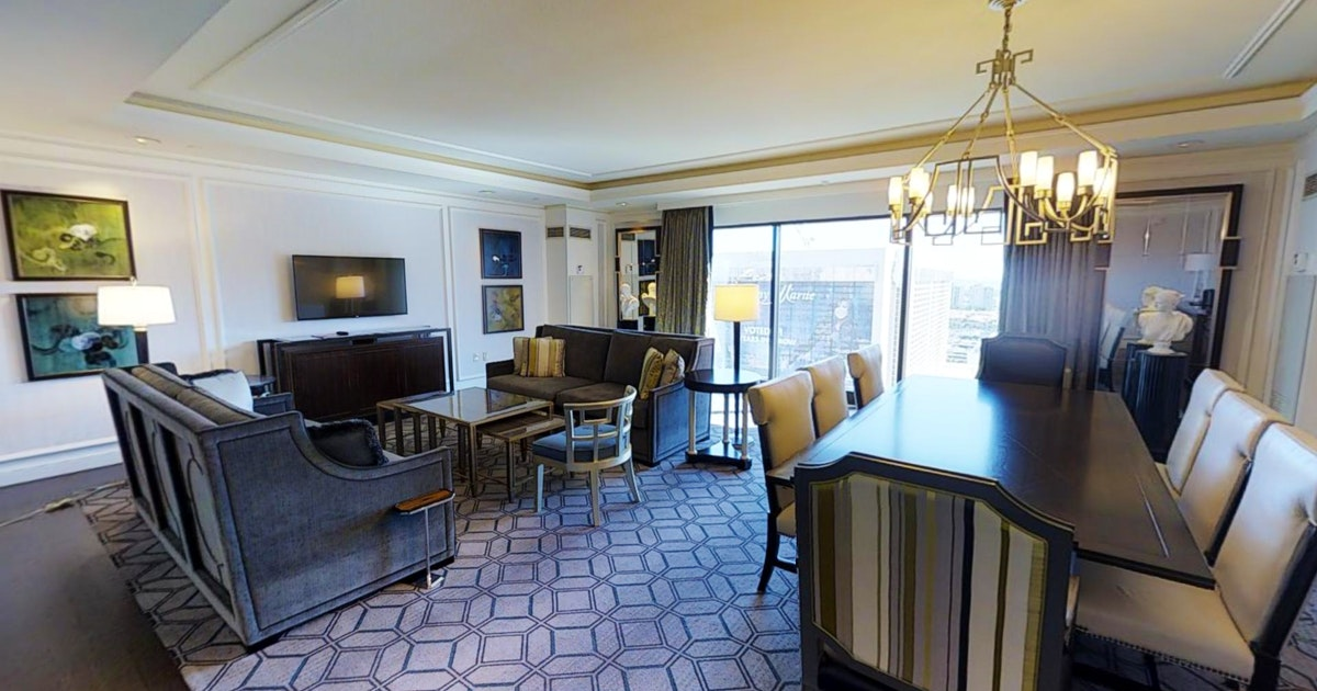 Augustus premium suite at caesars palace suiteness more bedrooms at the best hotels for Caesars palace 3 bedroom suite