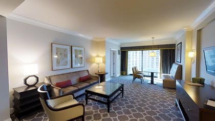 Living Room | Octavius Executive Suite + 2 Queens | Caesars Palace