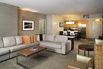 Suite Living   1 Bedroom King Suite with Sofabed   Elara by Hilton Grand Vacations