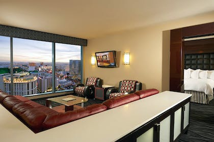 One Bedroom Suite Living | 1 Bedroom King Suite & Sofabed | Elara by Hilton Grand Vacations