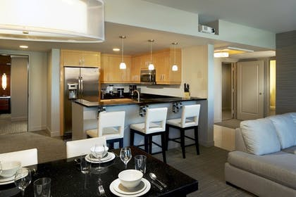 Kitchen Dining Area | Corner 2 Bedroom 2 King Suite with Sofabed | Elara by Hilton Grand Vacations
