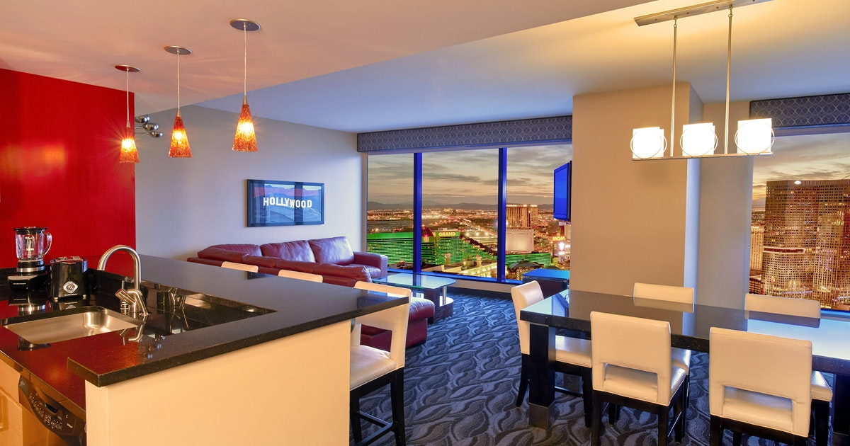 Corner 2 bedroom 2 king suite with sofabed at elara by - Las vegas cheap suites two bedroom ...