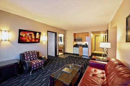Junior Suite Living Area | Junior 1 King Suite with Sofabed | Elara by Hilton Grand Vacations