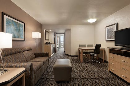 living room | 2 Room Suite-1 King Bed | Embassy Suites by Hilton Convention Center Las Vegas