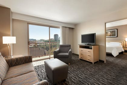 living room | 3 Room Executive Suite-1 King Bed | Embassy Suites by Hilton Convention Center Las Vegas