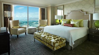 Bedroom | One-Bedroom Suite King + Deluxe Doubles | Four Seasons Hotel Las Vegas