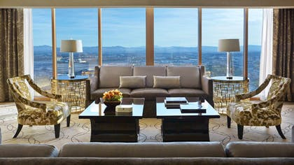 Living Room | Valley View Suite + Deluxe King | Four Seasons Hotel Las Vegas