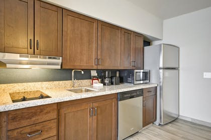 LASDMHW_Kitchen_Area_S.jpg | 2 Queen Beds 1 Bedroom Suite Nonsmoking | Homewood Suites by Hilton Las Vegas City Center
