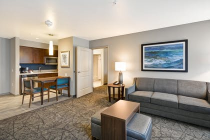 LASDMHW_Living_Area_S.jpg | 2 Queen Beds 1 Bedroom Suite Nonsmoking | Homewood Suites by Hilton Las Vegas City Center