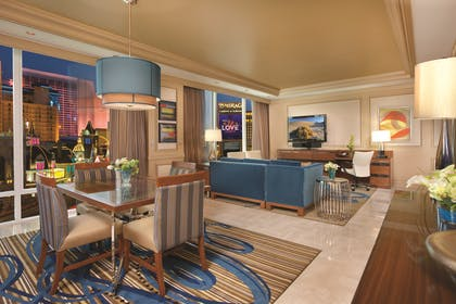 Mirage Two Bedroom Penthouse Living Room.jpg | Two Bedroom Penthouse Suite | Mirage Resort & Casino