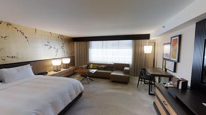 Bedroom | Nobu Penthouse + King Room + Double Queens Room | Nobu Hotel at Caesars Palace