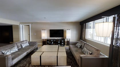 Living Room 2 | Sake Suite + Luxury Queens + Luxury King | Nobu Hotel at Caesars Palace