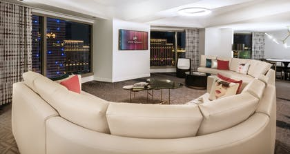 Living Room | Ultra Apex Suite + 1 King | Planet Hollywood Resort & Casino