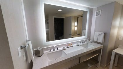 Bathroom with Dual Vanities | Ultra Hip Panorama Queens Suite | Planet Hollywood Resort & Casino