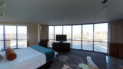 King Bedroom | Masquerade Suite + 1 King | Rio All-Suite Hotel & Casino