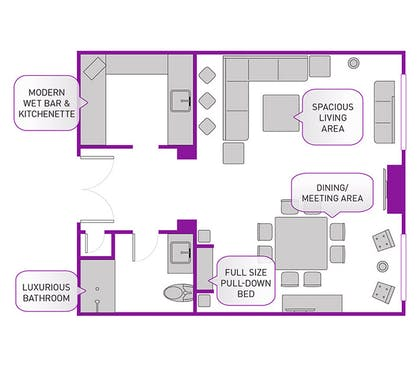 Floorplan | Reception Suite  | The Cosmopolitan of Las Vegas