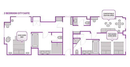 Floorplan | Two Bedroom City Suite | The Cosmopolitan of Las Vegas