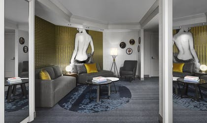 Living Room | Wraparound Terrace Suite + Terrace One Bedroom | The Cosmopolitan of Las Vegas