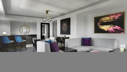 Living Room area | Wraparound Terrace Suite + Terrace One Bedroom | The Cosmopolitan of Las Vegas