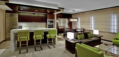 Kitchen/living area | Two Bedroom Hospitality Suite | Vdara Hotel & Spa
