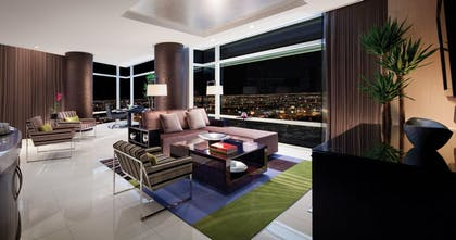 Living Area | Sky Suites Two Bedroom Penthouse – Mountain View | ARIA Resort & Casino Las Vegas