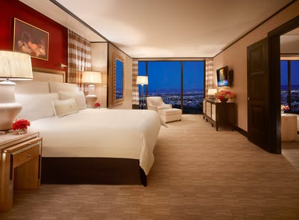 Bedroom | Encore Parlor Suite | Encore at Wynn Las Vegas