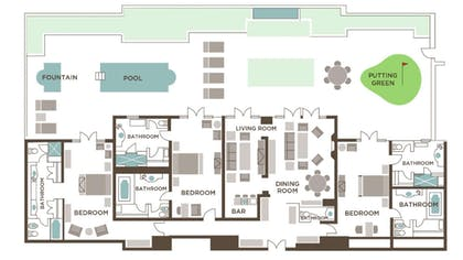 Floor plan | Three Bedroom Villa | Mirage Resort & Casino