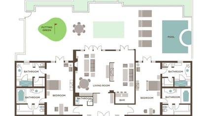 Floorplan | Two Bedroom Villa | Mirage Resort & Casino