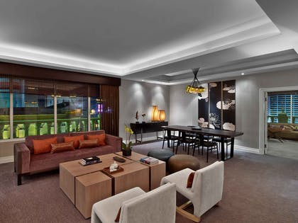 Living Room | Hakone Suite + Luxury Queens | Nobu Hotel at Caesars Palace