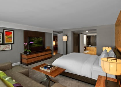 Bedroom | Sake Suite + Luxury Queens + Luxury King | Nobu Hotel at Caesars Palace