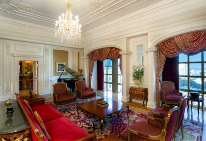 Living Room | Louis XV Suite | Eiffel View | Paris Las Vegas