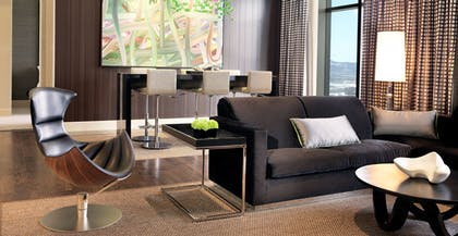 Living Room  | Two Bedroom Chelsea Penthouse | The Cosmopolitan of Las Vegas