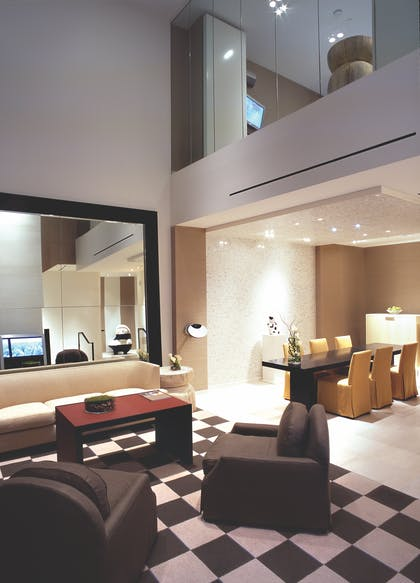 Living Area | One Bedroom Loft | The SKYLOFTS at MGM Grand