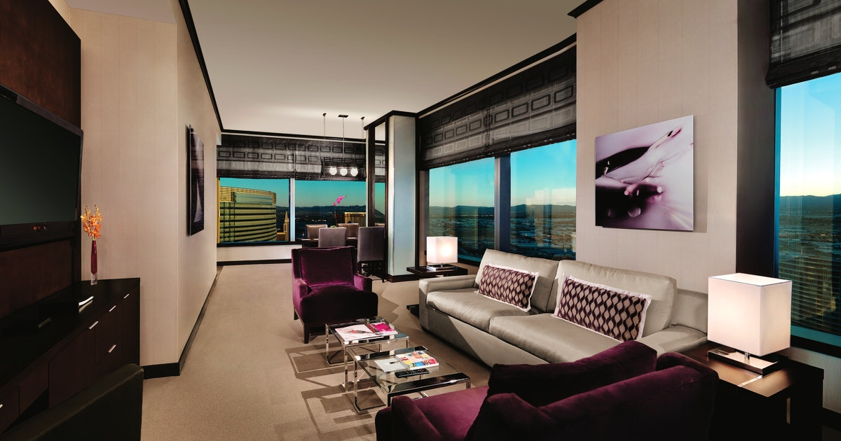 Vdara Two Bedroom Penthouse Suite At Vdara Hotel & Spa At