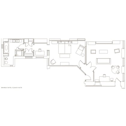 Floorplan | Classic Suite | Brown's Hotel, a Rocco Forte Hotel