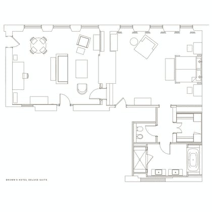 Floorplan | Deluxe Suite | Brown's Hotel, a Rocco Forte Hotel