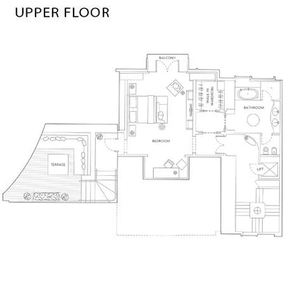 Floorplan | The Writer's Penthouse | Corinthia Hotel London
