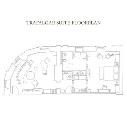 Floorplan | Trafalgar Suite | Corinthia Hotel London