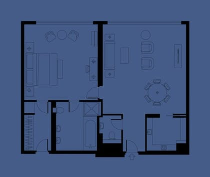 Floorplan | One Bedroom Suite | Ham Yard Hotel