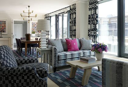 Living room | The Terrace Suite | Ham Yard Hotel