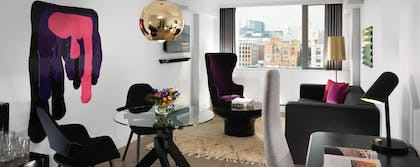 Living area | River View Loft Suite + River View Deluxe | Mondrian London at Sea Containers