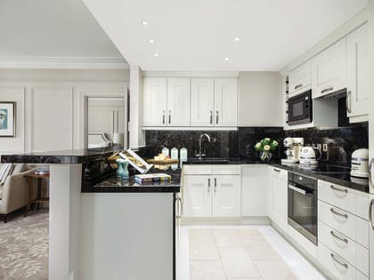 One Bedroom Residence - Kitchen | One Bedroom Residence + Executive Room | The Langham Hotel, London
