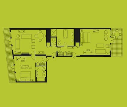 Floorplan | Two Bedroom SoHo Suite | The Soho Hotel