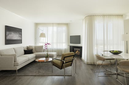 Living Room | One Bedroom Townhome | AKA Beverly Hills