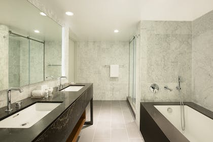 Bathroom | Andaz Suite King + View Queens | Andaz West Hollywood