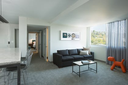 Living Room | Andaz Suite King + View Queens | Andaz West Hollywood