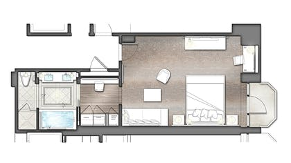 Floorplan | Viceroy Junior Suite | L'Ermitage Beverly Hills
