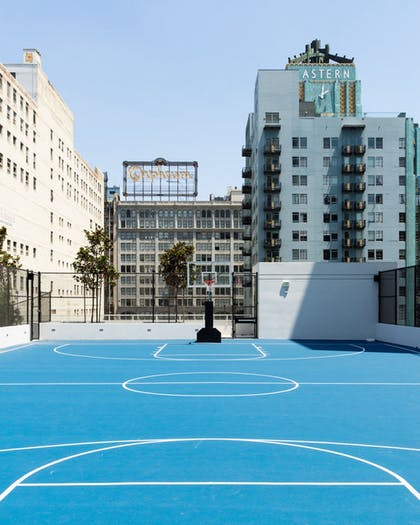 Basketball court | LEVEL Furnished Living Suites